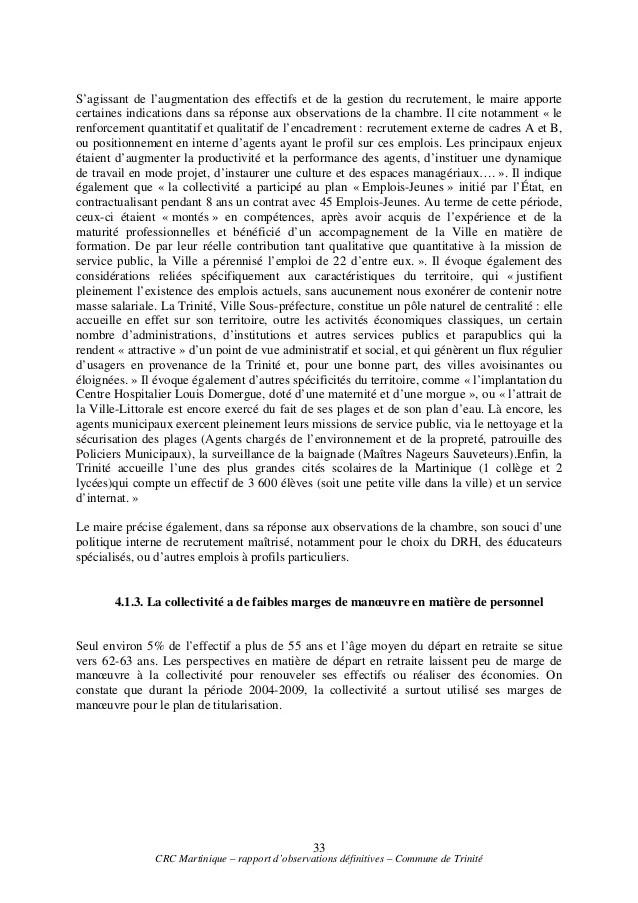 Le rapport de la chambre Rgionale des Comptes