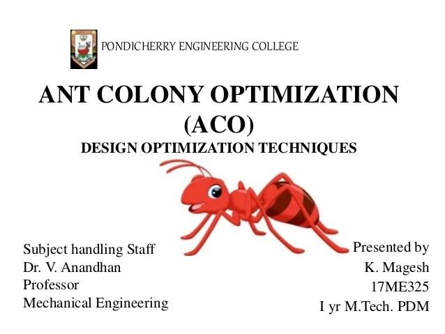 Ant Colony Optimization Aco