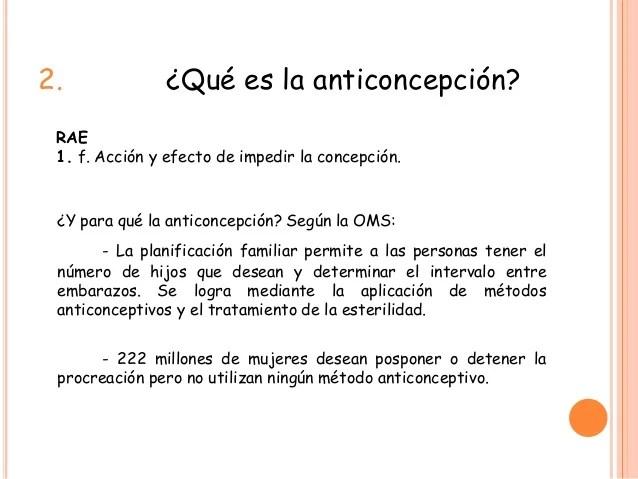 Anticoncepcin y primaria