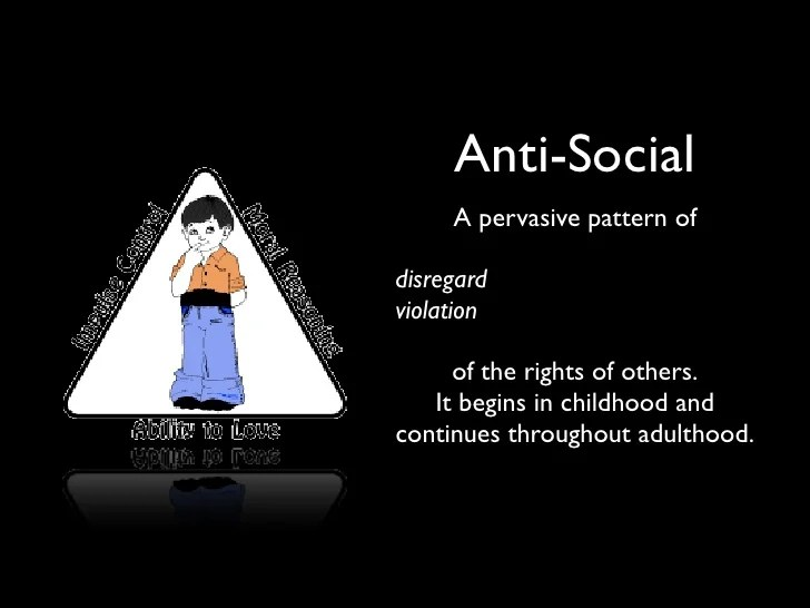 Anti Social Personality Disorders