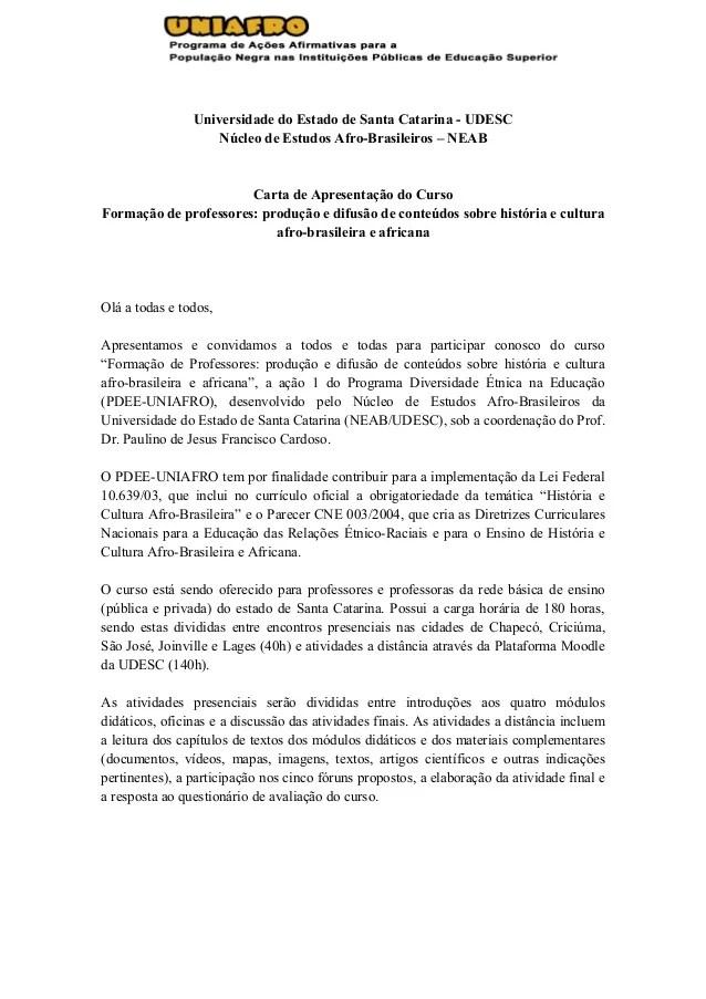Ação 1 Carta De Apresentação