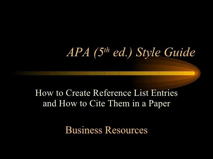 Presentation Apa Powerpoint Template Style