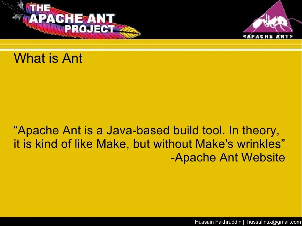 """What is Ant """" Apache"""