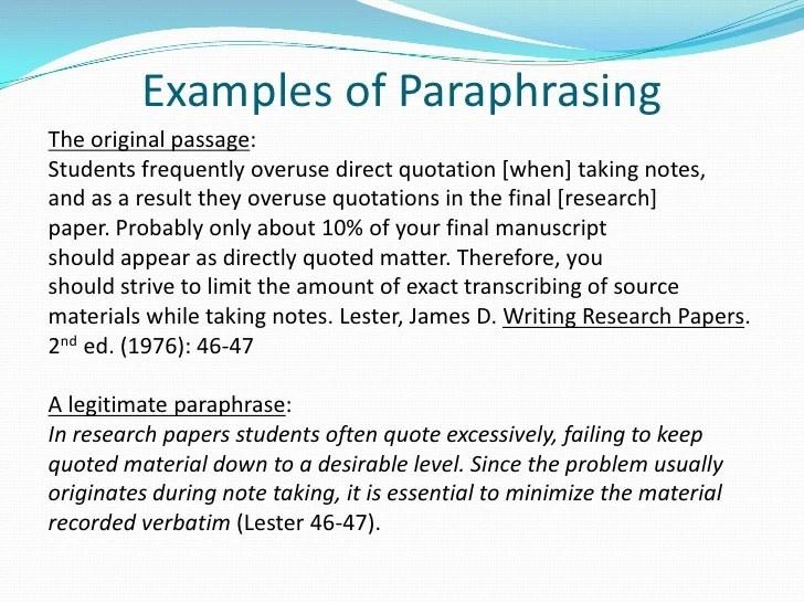 Apa Citing Paraphrasing And Quoting Presentation
