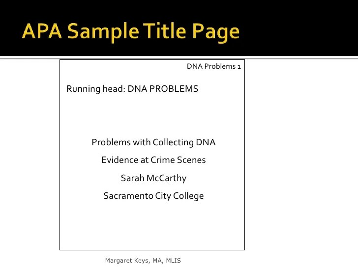 apa reference format sample