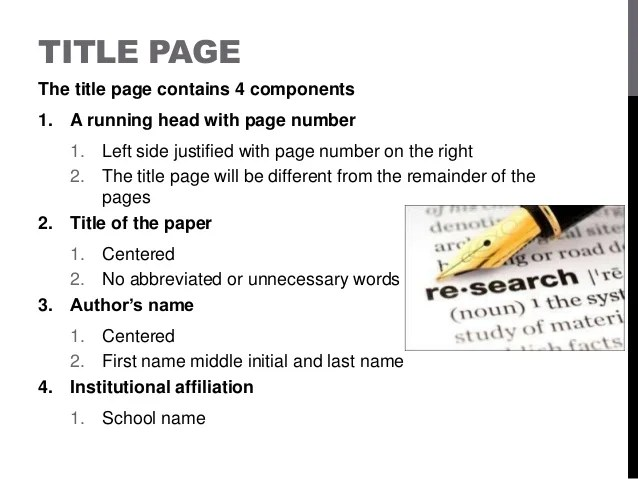 apa format style power point research paper example