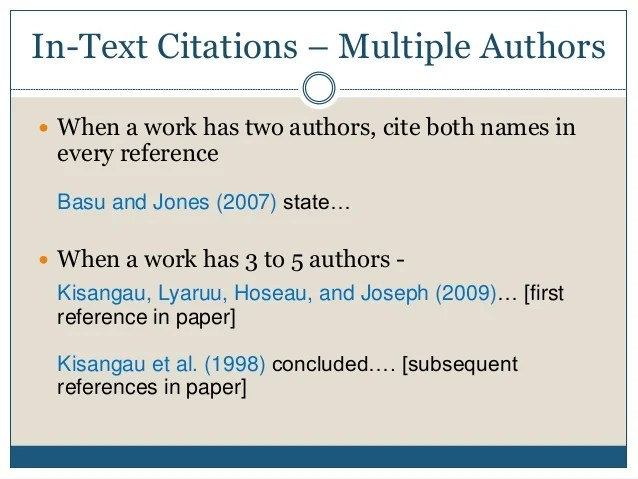 apa citing journal article multiple authors