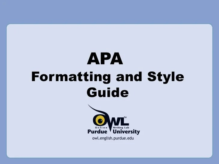 formatting apa guide