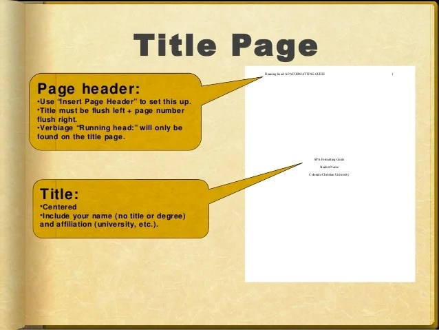 Apa Format Powerpoint Title Page Hospi Noiseworks Co
