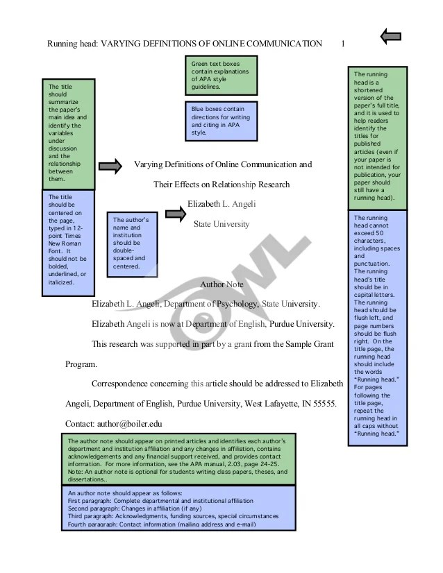 Legal Style Sheet For Term Papers Carleton University Apa Research