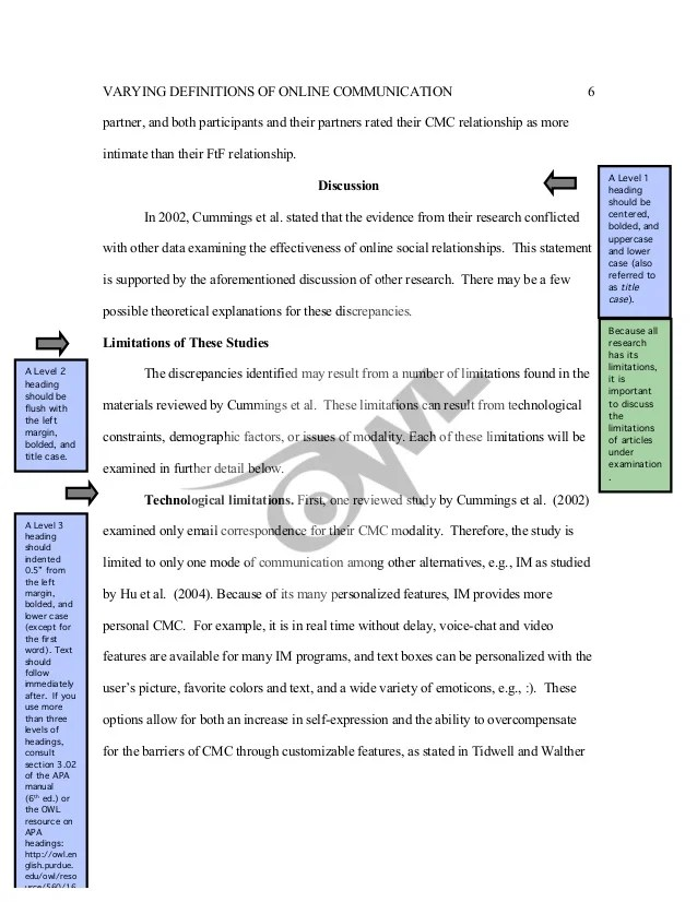 APA Changes 6th Edition