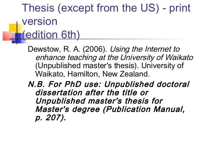 Chicago Style Citation Unpublished Dissertation
