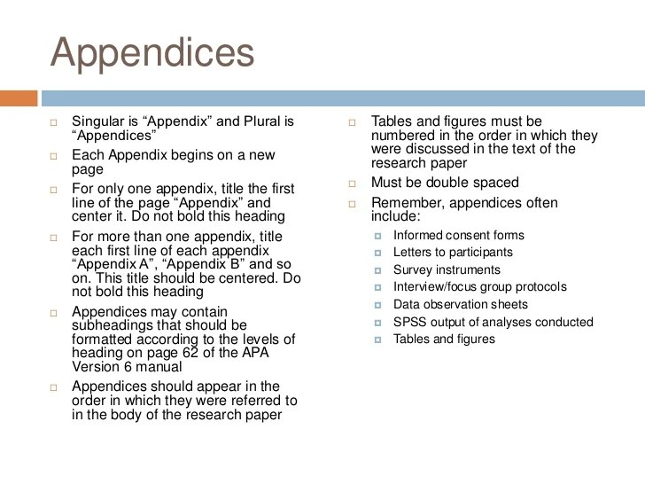 Appendix Format Hizli Rapidlaunch Co