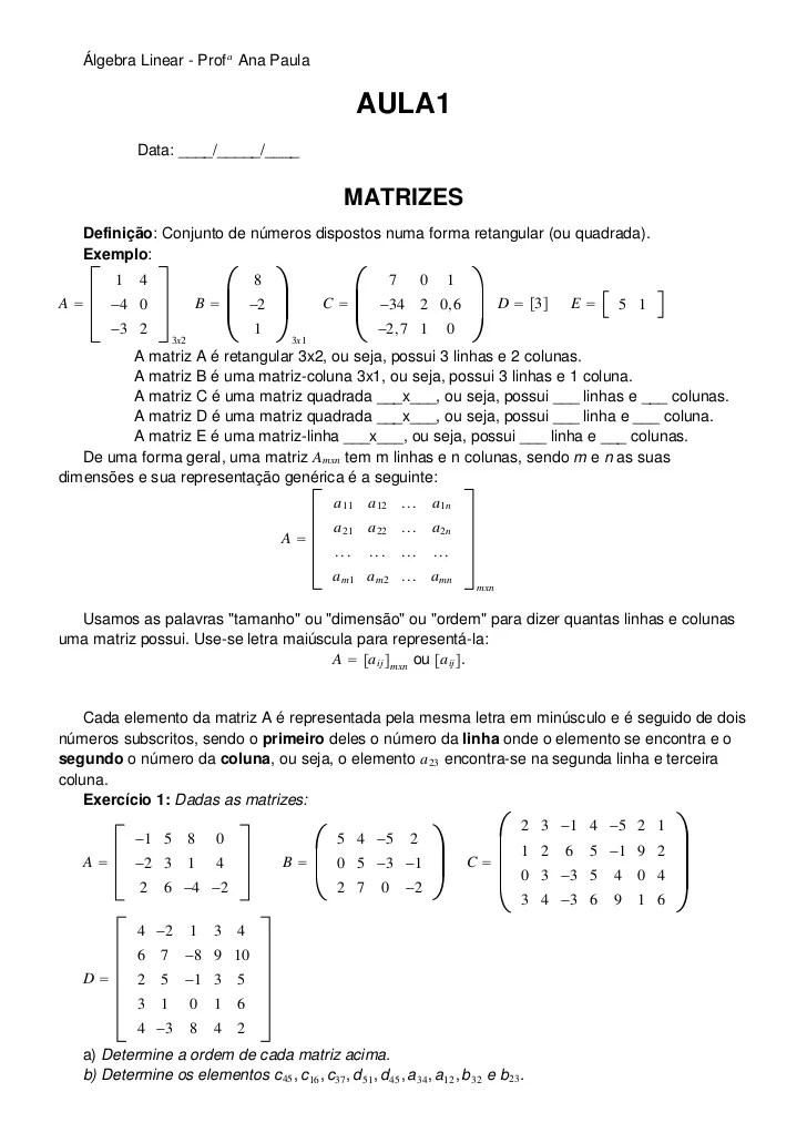 Apostila De Algebra Linear