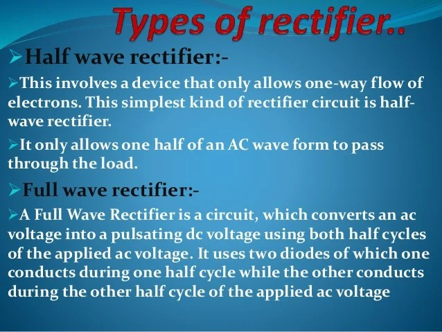 Rectifier Circuit Diagram Half Wave Rectifier With Capacitor Diode