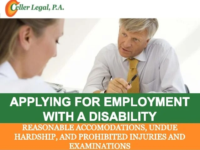 Applying for employment with disability reasonable