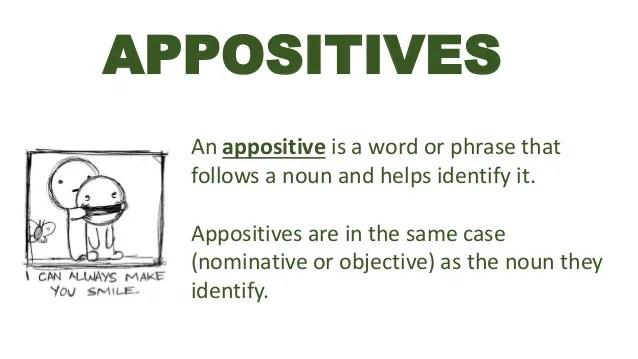 Appositive Sgrade8