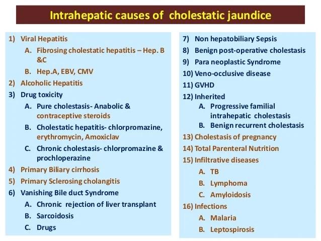 Approach to cholestatic jaundice