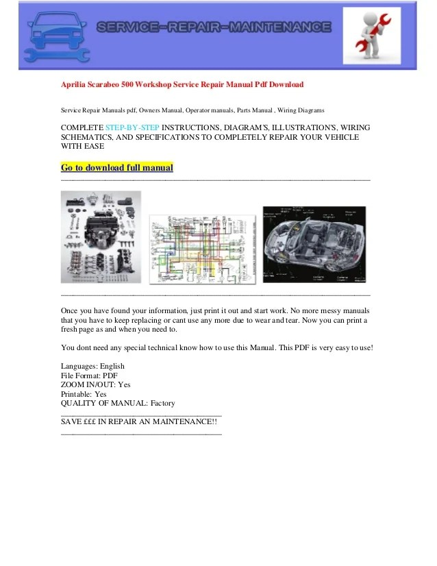 Aprilia scarabeo 500 electrical wiring diagram pdf download