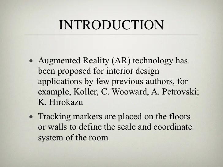 Presentation  AR for interior