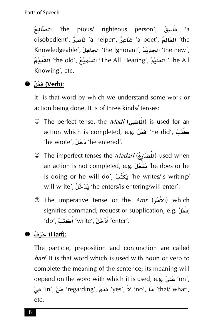 Arabic grammar essentials