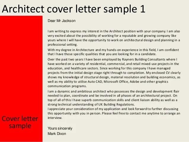 architect cover letters  Baskanidaico