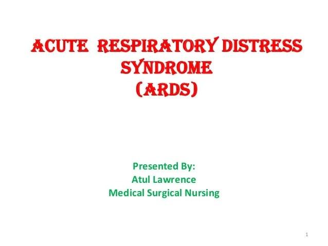 Distress Acute Syndrome Statistics Respiratory