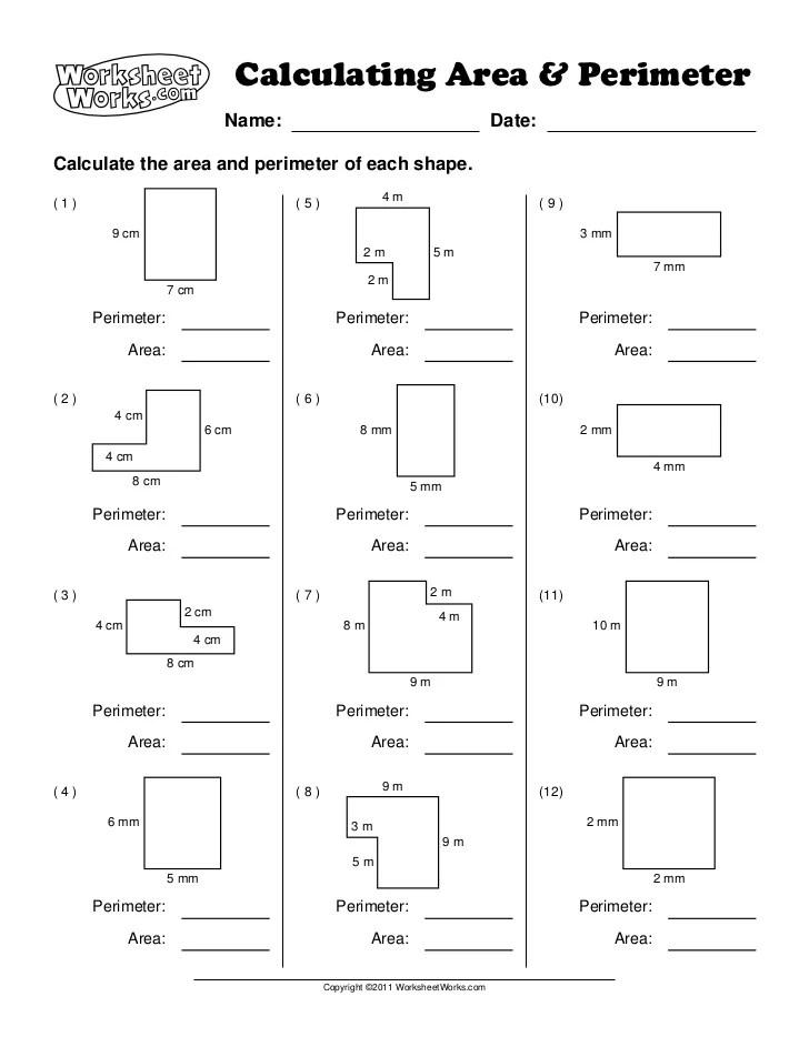 Area of composite figures worksheet kuta