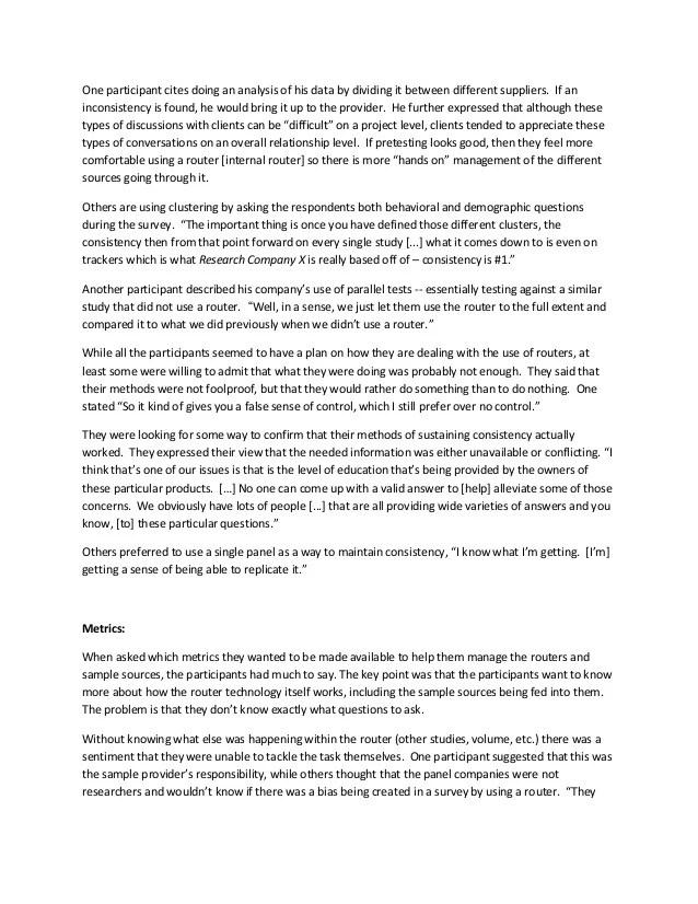 ARF Foq2 Router Focus Group Report