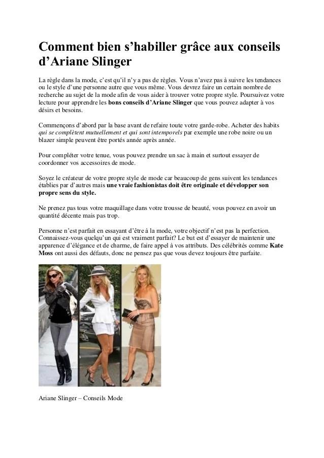 Comment Avoir Son Propre Style : comment, avoir, propre, style, Ariane, Slinger:, Conseils, Slinger
