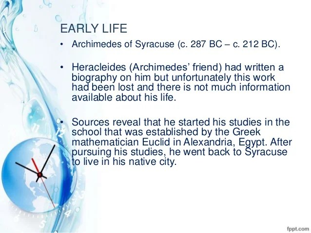 Philosopher Archimedes Biography Greek