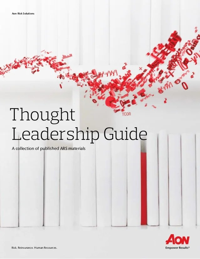 Aon Thought Leadership Guide