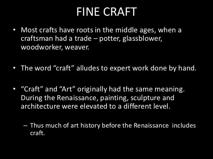 Chapter 12 Craft