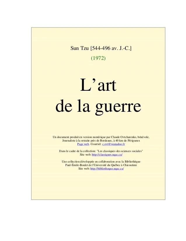 L'art De La Guerre Sun Tzu Pdf : l'art, guerre, Suntzu, L'Art, Guerre