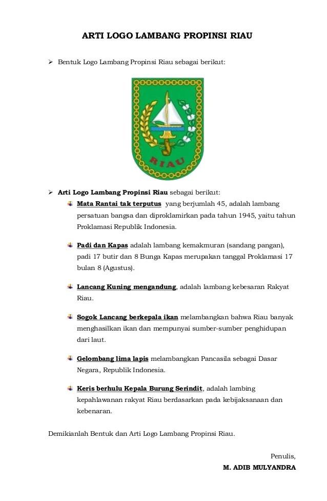 Logo Provinsi Riau : provinsi, Lambang, Propinsi