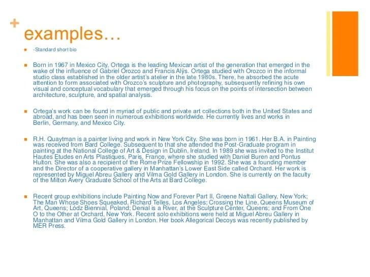Bio Resume Examples Bio Template Examples Professional Biography
