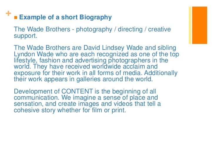 How To Create A Photography Artist Statement Bio Resume