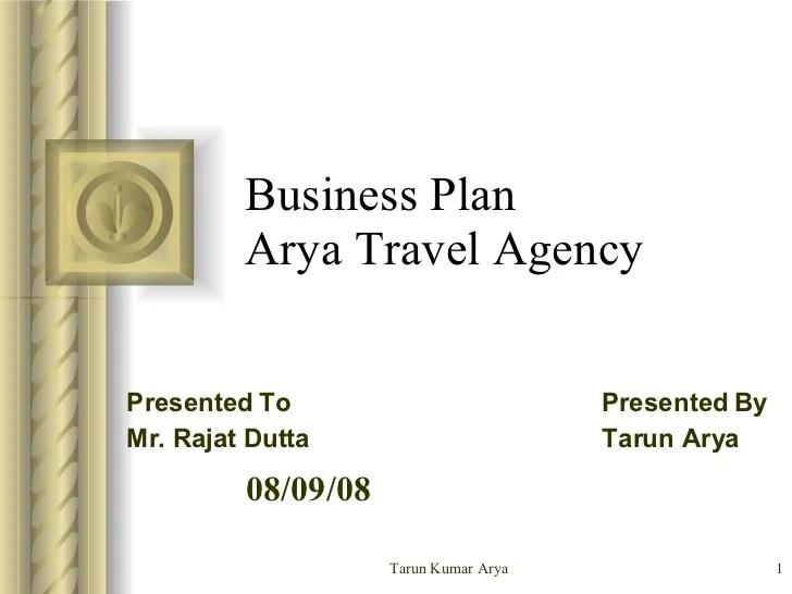 Business Plan For Arya Travel Agency