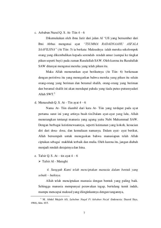 Surat At Tin Ayat 4 : surat, Surat