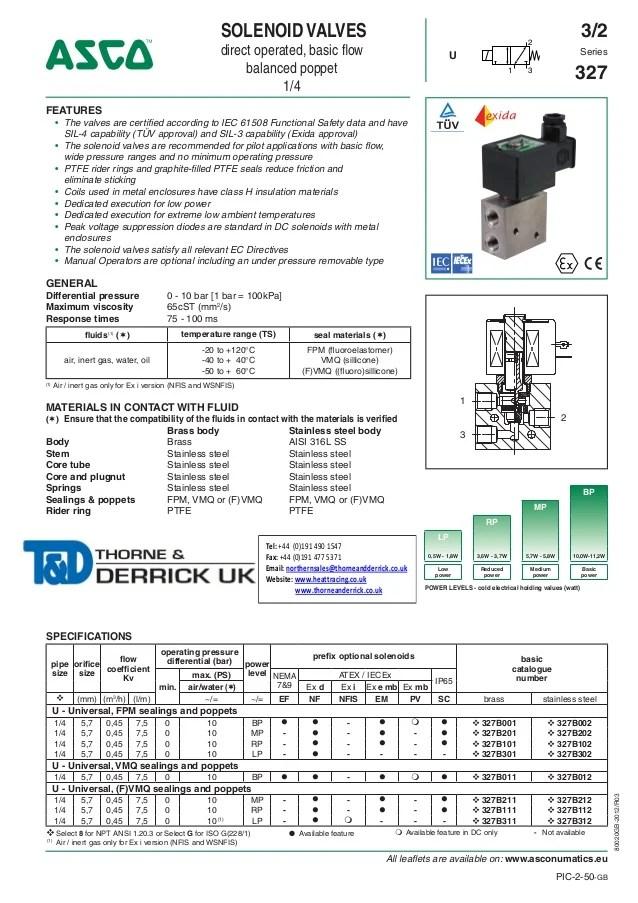 4 Way Slide Switch Wiring Diagram Asco Atex Solenoid Valves 327 Series Spec Sheet