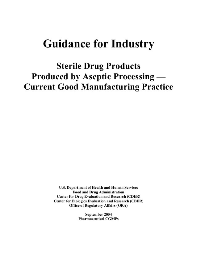 Aseptic Processing Guidance