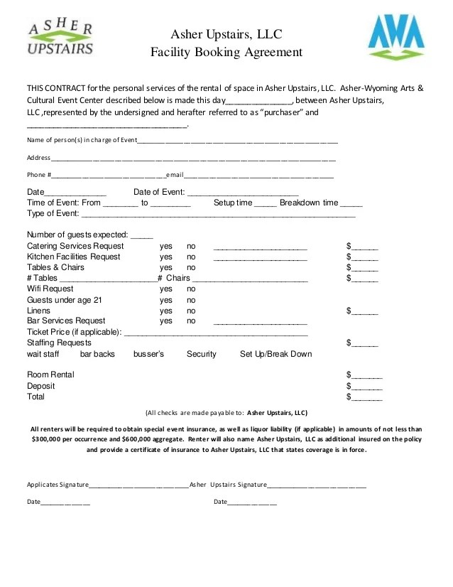 Asher upstairs rental agreement