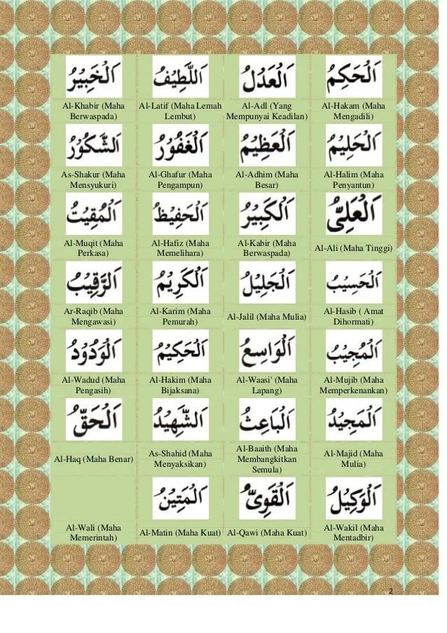 Al Khabir Artinya : khabir, artinya, Asma'ul, Husna, (Nama-nama, Allah)