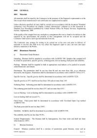 Asphalt & carpet specifications