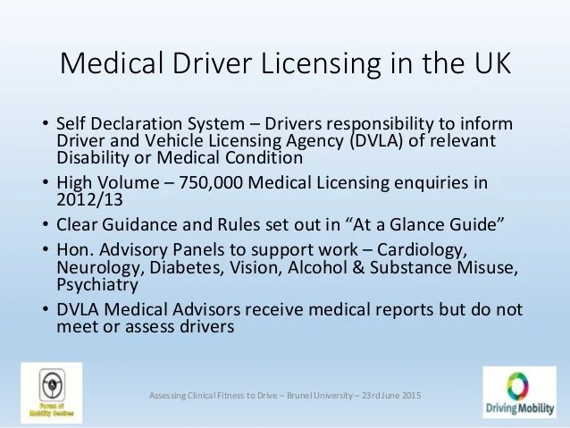 Assessing Clinical Fitness To Drive Symposium All Slides