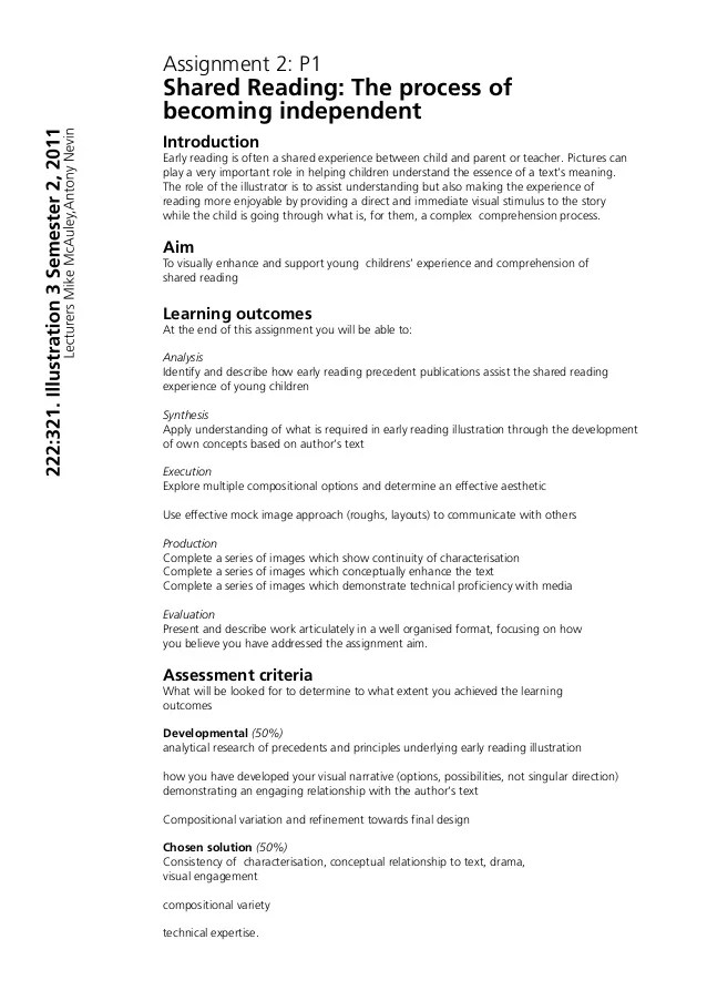 Assignment Brief Examples