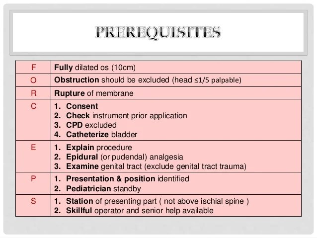 Indications Forceps Delivery