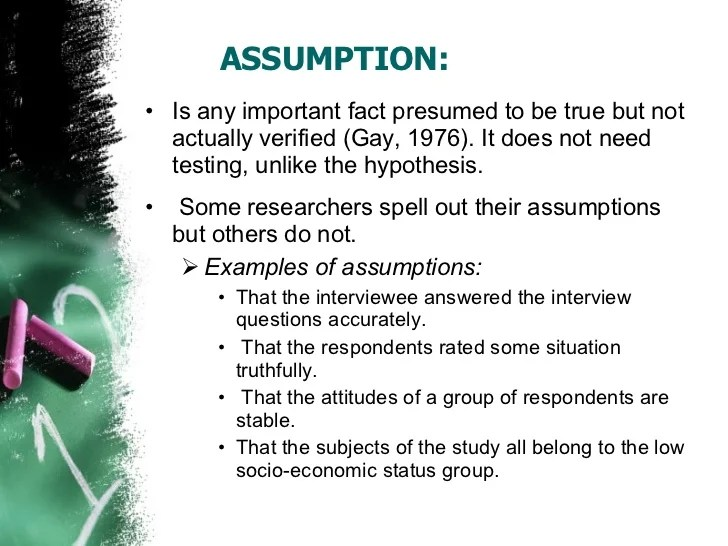 Assumptions Research Paper College Paper Writing Service