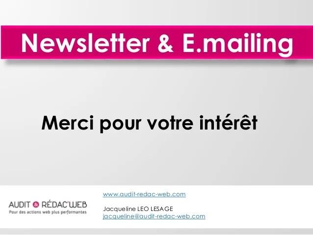 Conseils et astuces rédaction Newsletter / E.mailing