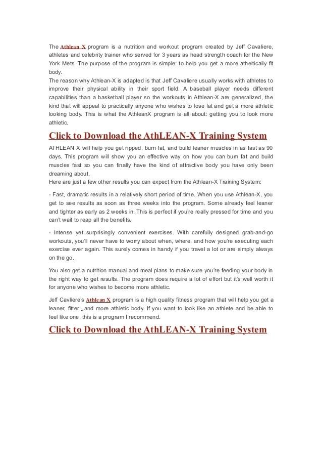 athlean x training system
